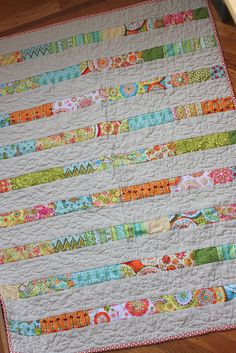 I love this! It would be an adorable baby quilt.