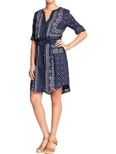 Women's Belted Shirt Dresses | Old Navy