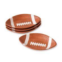 Football Shaped Plates, Set of 4