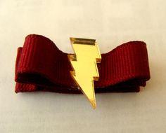 Lightning Bolt Aligator hair clip by geeklingdesigns on Etsy, $3.00