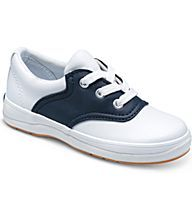 School Days II, White / Classic Navy, dynamic # Keds sneaker. She'll be ready to hit the books as she heads for class & for recess too. This saddle style #Keds can be found at Imagination Toys & Shoes in Houston, Tx. Great to be worn with uniforms or any outfit!