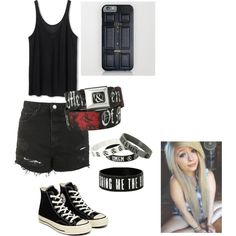 Scene summer by ultimatebandgirl on Polyvore featuring polyvore fashion style Topshop Converse