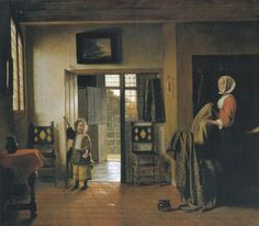 La camera da letto (Pieter de Hooch, 1660, National Gallery of Art, Widener Collection, Washington)