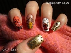 10 Crazy-Cute Thanksgiving Nail Art Ideas (Some Pretty, Some Hysterically Funny!): Girls in the Beauty Department: Beauty: glamour.com