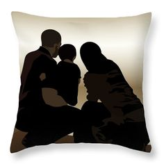 Family Throw Pillow featuring the digital art Family by Scheme Of Things