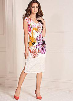 Bow Back Shift Dress #kaleidoscope #summer #fashion