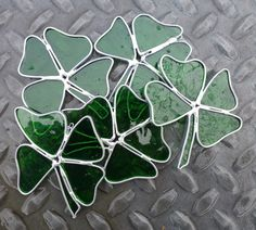 Stained Glass FourLeaf Clover by BlueFishStudios on Etsy, $9.00