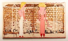 rose wylie, pink girls yellow curls, 2014 Rose Wylie, English Artists, Museum Exhibition, Cool Paintings, Contemporary Paintings, All Art, Art Inspo, Pink Girl, Oil On Canvas
