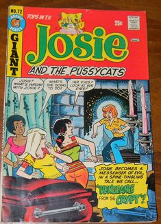 Josie and the Pussycats comic book GIANT 1973 Vengeance from the Crypt, vintage, collectible The Effective Pictures We Offer You About Comic Book store A quality picture can tell you many things. Richie Rich Comics, Comic Book Wallpaper, Josie And The Pussycats, Book Drawing, Childhood Days, Classic Cartoons, Vintage Comics, Book Illustration, Told You So