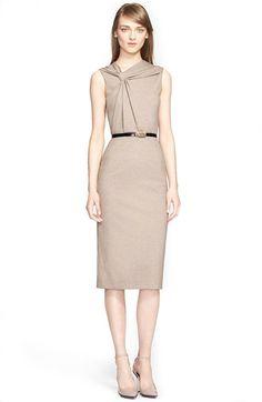 Jason Wu Sleeveless Twist Front Melange Knit Dress