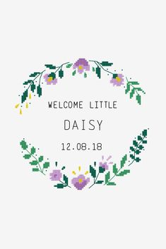 Welcome Little One - Free Cross stitch patterns - DMC Small Cross Stitch, Cross Stitch Letters, Cross Stitch Borders, Cross Stitch Baby, Modern Cross Stitch Patterns, Cross Stitch Flowers, Cross Stitch Designs, Cross Stitching, Cross Stitch Embroidery