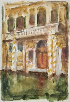 Original Landscape Painting by Dumitru Bostan Junior Watercolor Paintings, Original Paintings, Original Art, Watercolors, Venice Painting, Impressionism Art, Buy Art, Paper Art, Saatchi Art