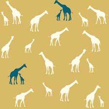 SERENGETI Giraffe Family Sun