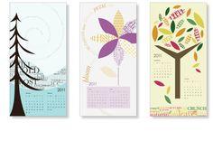 typographic calendar - abby pritz