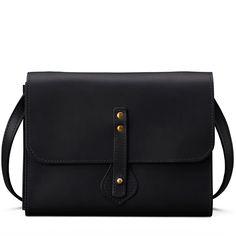 Women's Linwood Crossbody Clutch   Black Leather   J.W. Hulme Co.