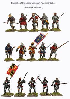 AO 60 Agincourt Foot Knights 1415-29, Perry Miniatures