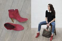 You can't have too many suede booties.