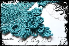 Crochet Necklace Crochet Collar Handmade by myprettybabi on Etsy