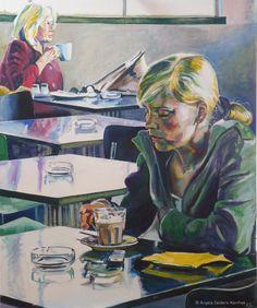 Cafeteria | Acryl auf Leinwand, 100 x 120 cm | 2011