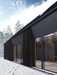 With Tind House, they developed distinctive contemporary details for the roof shape, windows and doors of the flexible system, which can be constructed as a single-storey residence for a couple or a family home with two or three floors.