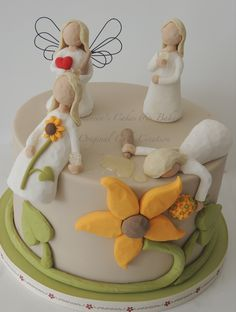 Willow tree figures cake