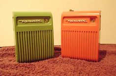 Vintage 70's 80's Realistic Flavoradio Lot of 2 Good Condition Both Work Well   eBay