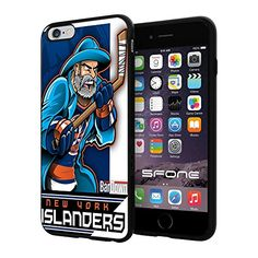 "New York Islanders Cartoon #1509 iPhone 6 Plus (5.5"") I6+ Case Protection Scratch Proof Soft Case Cover Protector SURIYAN http://www.amazon.com/dp/B00X45F0DK/ref=cm_sw_r_pi_dp_by8yvb0YVS115"