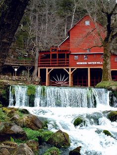 Old Country Barns | Hodgson Water Mill, Ozark Co., Missouri | Favorite Places & Spaces