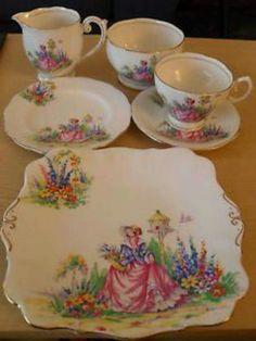 Details about Art Deco Bell Fine Bone China Teacups,saucers,plates,sandwich…