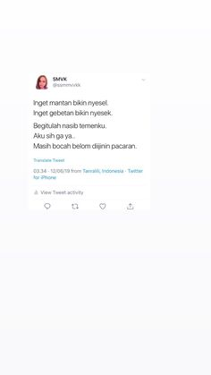 #screenshot #humor #twitter #receh #dagelan #quotes Minions Quotes, Jokes Quotes, Me Quotes, Memes, Tweet Quotes, Twitter Quotes, Laugh Of Loud, Religion Quotes, Drama Quotes