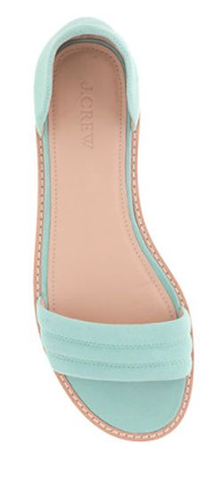 mint slip-on suede sandals. I wonder if these are as comfortable as they look...