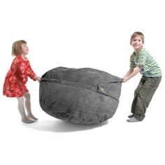 #Kindersitzsack von FatSak - KID Sak: Cord-Velours Grau