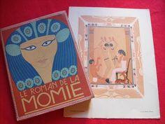 George Barbier Le roman de la Momie Théophile Gautier + hors-texte 1929