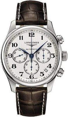 Longines Master Collection Chronograph Stainless Steel Mens Watch L26934783:Amazon:Watches