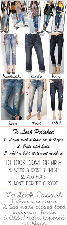 How to Wear Boyfriend Jeans  tbh I just pinned this bc my name's in it