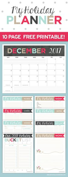 Printable || Holiday Planner