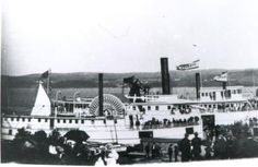 Summer picnicking along the St. John River formed a big part of the business for the riverboats by the early Here we see the Victoria and other steamers moored near a picnic grounds. Vintage Florida, Old Florida, Steamboats, Steamers, New Brunswick, Summer Picnic, The St, Canoe, Vintage Prints