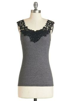 I love this because it's got the comfort of a casual tank, but the lace detail makes it not so boring!