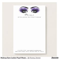 Makeup Eyes Lashes Puprl Name Web Telephone Number Post-it Notes