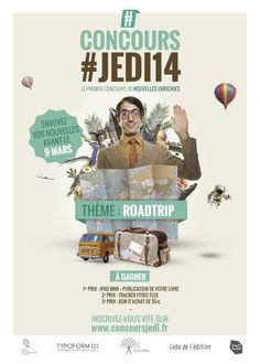 Affiche du #concours #JEDI.  Téléchargez l'application ONprint (sur l'App Store et Google Play) et flashez l'affiche pour commencer l'expérience !