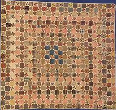 """Child's Lemoyne Star Quilt 1870 54""""x50"""""""