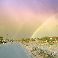 Queen Creek, AZ as the storm rolls out.