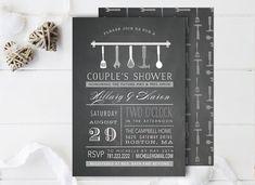 Pizarra tipografía novia parejas ducha por WisemonkeyPaperie