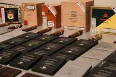 Pierre Marcolini grand cru chocolates paired with  cigars