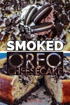Have you ever had Oreo Cheesecake? This smoked spin on the traditional favorite is one of my favorite smoked dessert ideas. It's easy to make, and absolutely delicious. Oreo Cheesecake Recipes, Dessert Recipes, Dessert Ideas, Oreo Dessert, Pumpkin Cheesecake, Traeger Recipes, Grilling Recipes, Grilling Tips, Rib Recipes