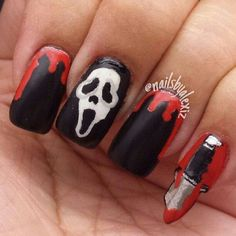 Halloween NAILS scream nails