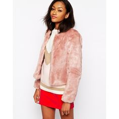 Warehouse Crop Faux Fur Jacket ($38) ❤ liked on Polyvore