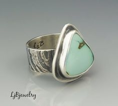 Silver Turquoise Ring #JewelrySilver
