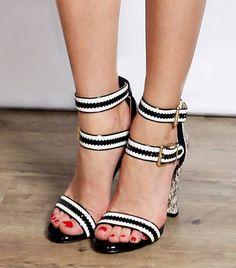 On Palermo: Pour La Victoire Veronica High Heel Sandals ($238) Similar Essential: Dune Friend Double Strap Single Sole Sandals ($133)