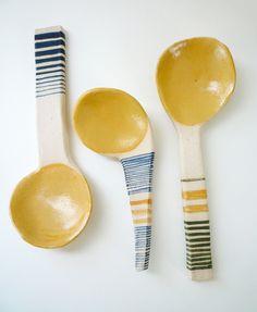 Ceramic Spoons.
